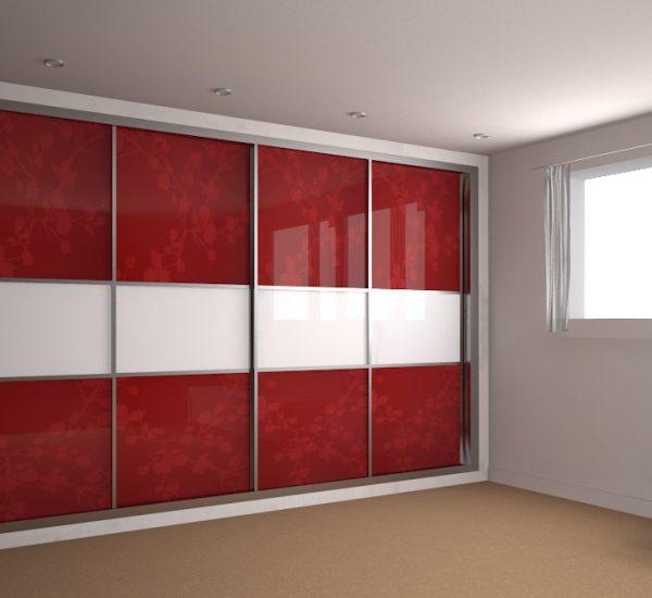 Шкаф купе красные двери