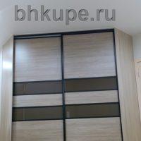 Угловой шкаф купе комбинированные двери